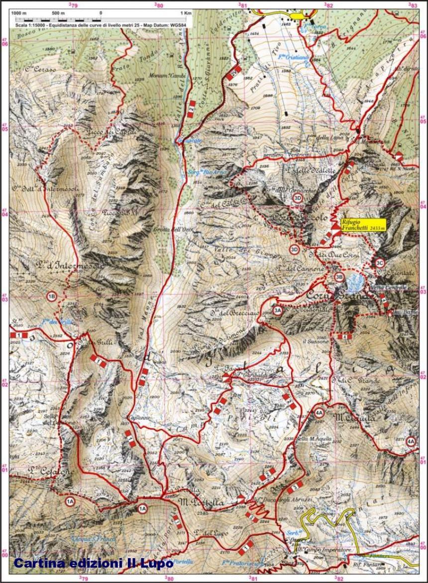 Mappa degli accessi